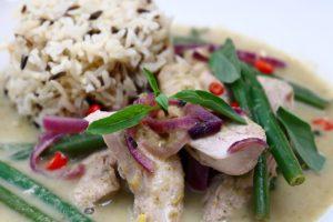 Speedy Thai green pheasant curry
