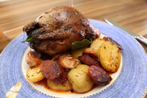 One-pot grouse with chorizo and new potatoes