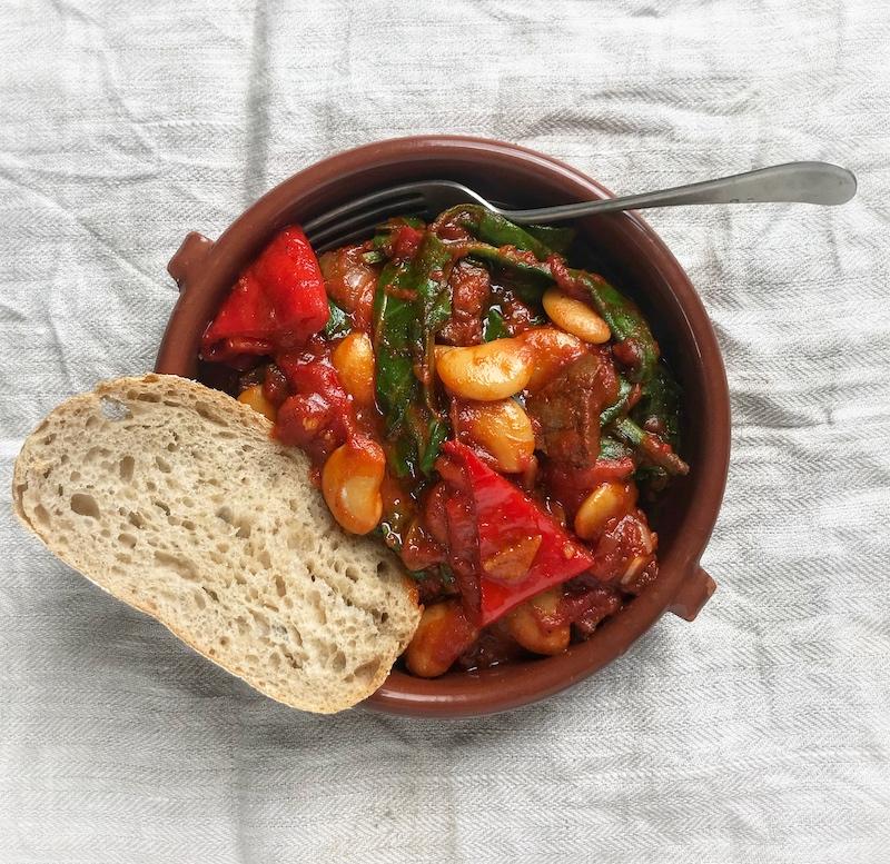 Spanish partridge & chorizo stew