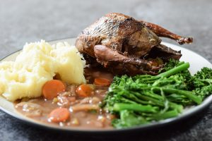 Grouse in sherry sauce